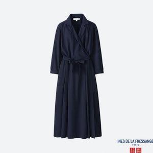Uniqlo IDLF Rayon Wrap Front Dress, NWT